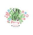 spring logo template original design colorful vector image