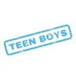 Teen Boys Rubber Stamp vector image vector image