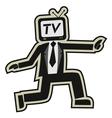Television man vector image vector image