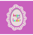 template of the Easter greeting card vector image