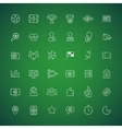 thin icons on theme soccer vector image vector image