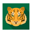 tiger icon in flat style isolated on white vector image vector image