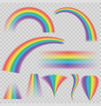 transparent rainbows in different shapes rainbow vector image vector image