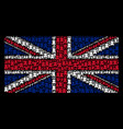 united kingdom flag pattern of fortress tower vector image