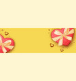valentines day banner template romantic vector image vector image