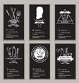 Visiting card design barbershop vector image vector image