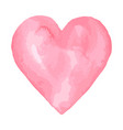 watercolor brush heart pink aquarelle abstract vector image vector image