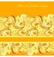 Yellow orange peacock feathers pattern background vector image vector image