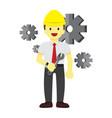 happy professional repairman graphic vector image