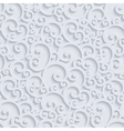 3d Floral Damask Seamless Pattern vector image vector image