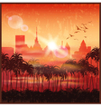 a city at sunset vector image vector image