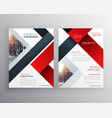 abstract red black geometric brochure design vector image vector image