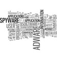 adware and spyware text word cloud concept vector image vector image