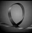awareness ribbon background vector image