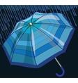 Blue umbrella protects from rain and storm vector image vector image