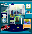 boys room with furniture vector image