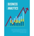 Business analytics banner with graphic report vector image