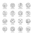 business line icons 5 vector image vector image