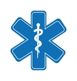 caduceus medical symbol isolated icon design vector image vector image