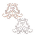 calligraphic baroque ornament is suitable for vector image vector image
