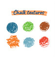 chalk grunge textures vector image