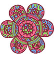 colorful mandala flower doodle cartoon artwork vector image vector image