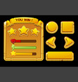 concept golden user interface for game vector image