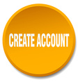 create account orange round flat isolated push vector image vector image