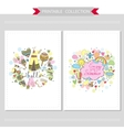 Cute hand drawn doodle postcards vector image vector image