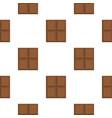 dark milk chocolate bar pattern flat vector image vector image