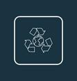 ecology icon line symbol premium quality isolated vector image