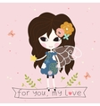 Fairy with star in the hand card vector image