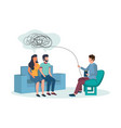 family psychotherapy concept for web banner vector image vector image
