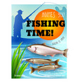 fishing season opening realistic poster vector image