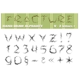 Fracture Alphabet Part Two vector image