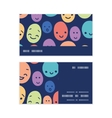 funny faces horizontal stripe frame pattern vector image vector image