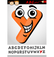 funny letter y cartoon vector image vector image