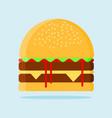 hamburger flat design icon vector image