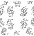 hand draw cat circus doodles vector image