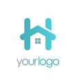 home letter h logo vector image vector image