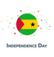 independence day of sao tome and principe vector image vector image