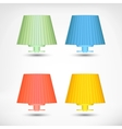 Lamp icons set vector image vector image