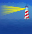 light house on sea at night vector image vector image