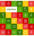 Line Christmas Icons vector image