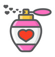 love perfume with hearts filled outline icon vector image vector image