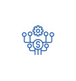 marketing development line icon concept marketing vector image vector image