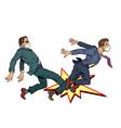 men fight competition coronavirus pandemic vector image