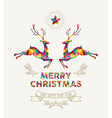 Merry Christmas vintage greeting card
