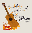 Music design over gray background vector image vector image