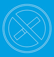 no smoking sign icon outline style vector image vector image